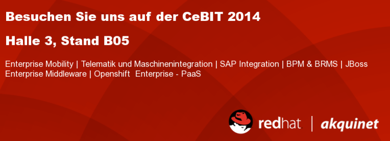 akquinet Red Hat - CeBIT 2014 - JBoss Enterprise Middleware