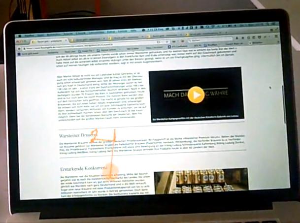 Eye-Tracking - Blickverlauf beim Lesen eines Texte